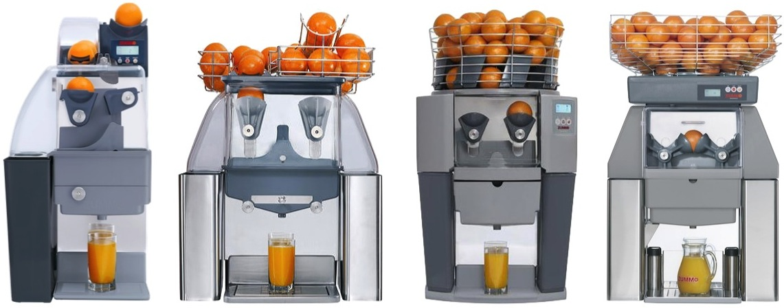 The Zummo Juicers Range